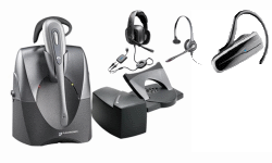 Plantronics Wired and Wireless Headsets